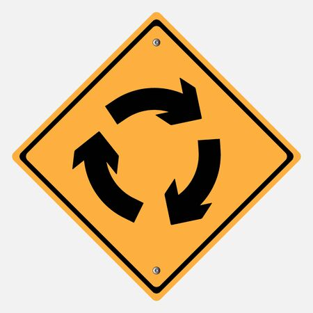 Traffic sign . round about