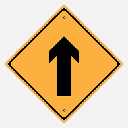 motorist: Traffic sign . Drive Straight Illustration
