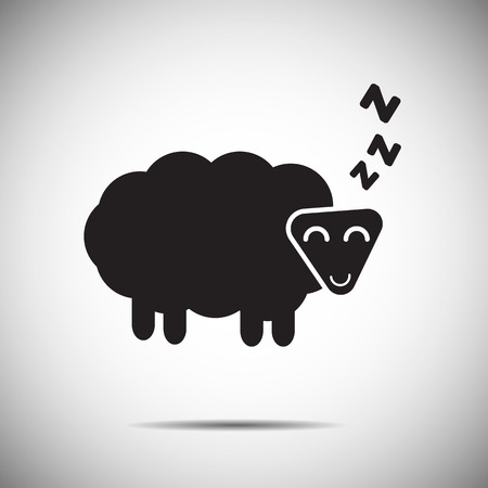 Sleep icon sheep 일러스트