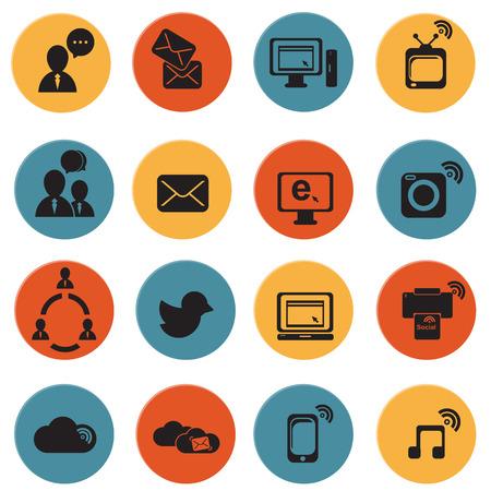 social icon: Social Media  Network icon vector  illustration Illustration