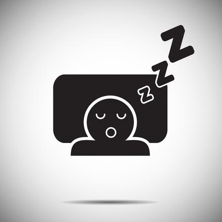 Sleep icon 矢量图像