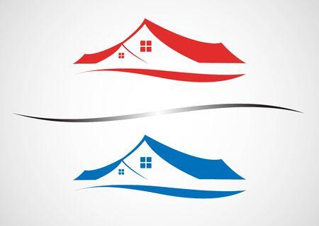 blue design: House Real Estate blue design