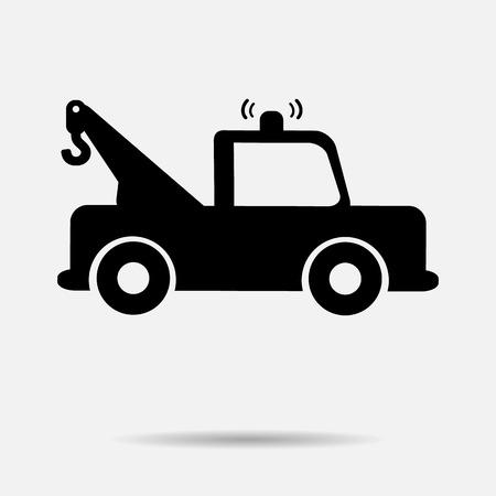 silhouette voiture: icône de voiture vecteur voiture de remorquage illustration