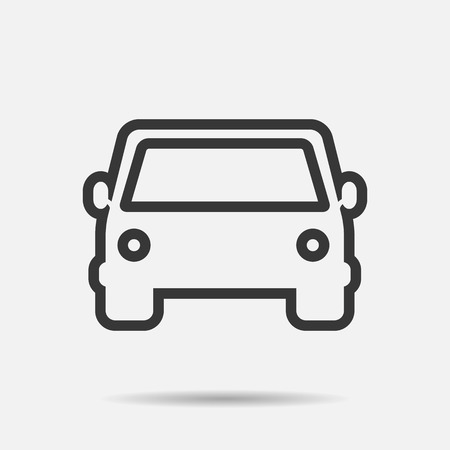 racing sign: car icons  line vector illustration