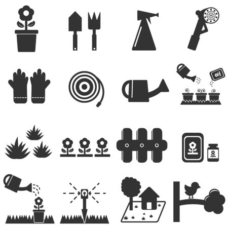 orchards: lawn icon ,  gardening icons  set