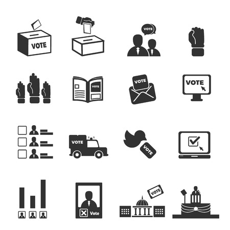 democracy icons vector illustration