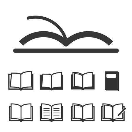 i nobody: Book icons  open book vector illustration