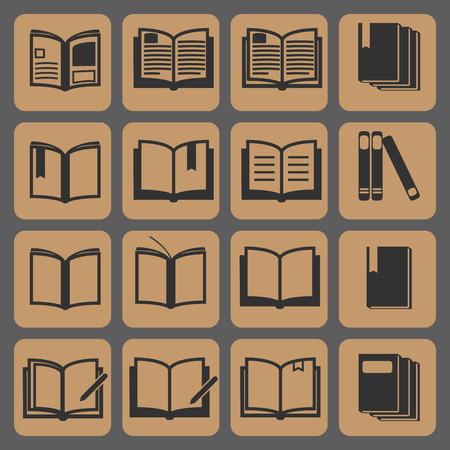 i nobody: Book icons  vector illustration , icon set Illustration
