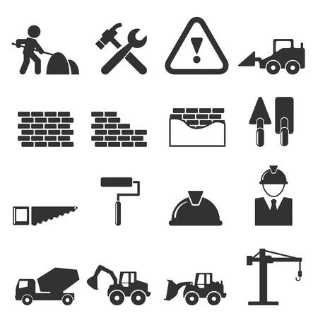 construction icons: construction icons  vector illustration Illustration