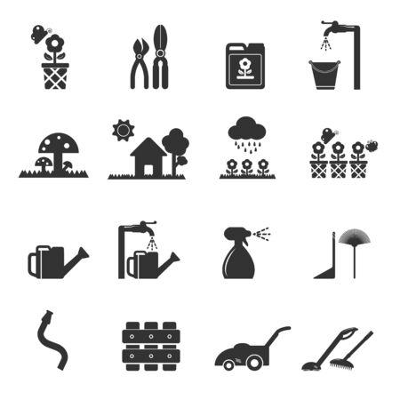 gardening hose: lawn icon