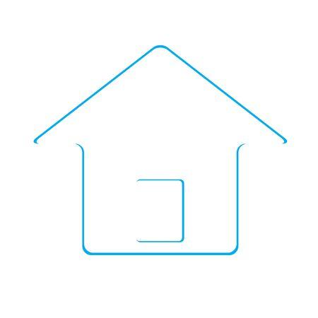 investment real state: Icono de la casa Real Estate dise�o azul