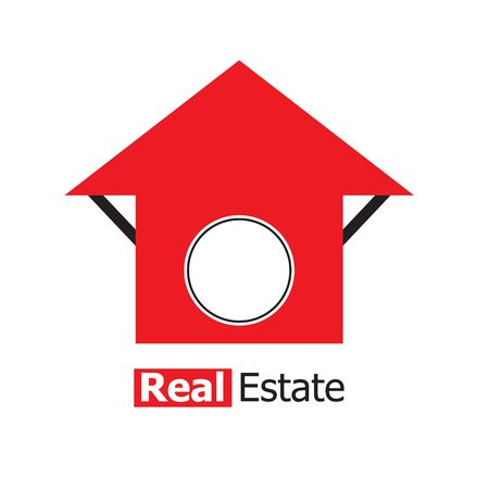 real estate house: House Real Estate red design