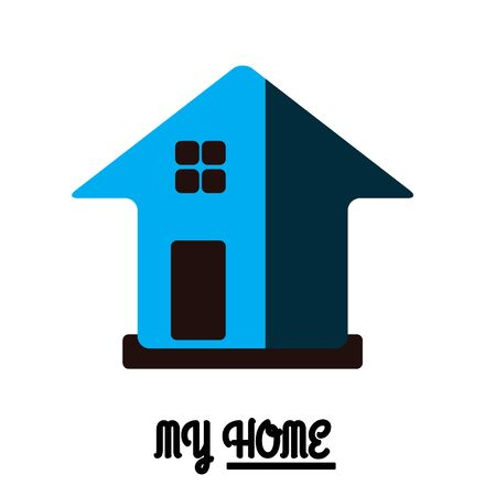 blue design: House Real Estate icon blue design