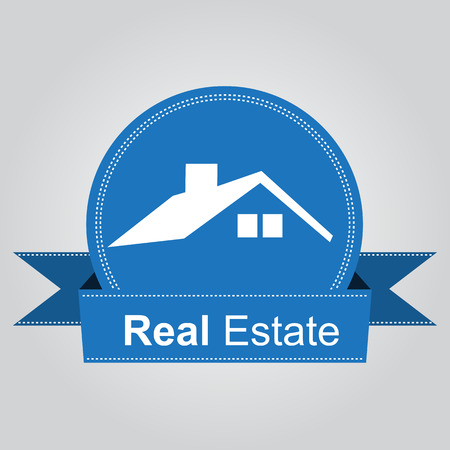 real estate house: House Real Estate blue design