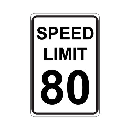 enforced: Speed Limit Sign  White