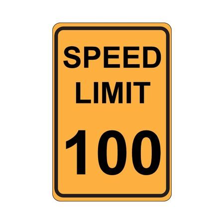 traffic violation: Speed Limit Sign  Yellow Illustration