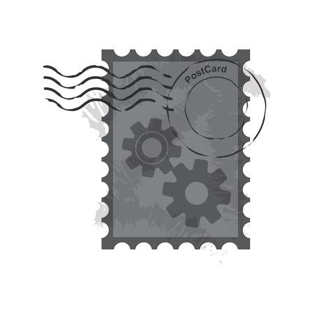 poststempel: Briefmarken Stempel, Vintage Briefmarken Vektor-Illustration