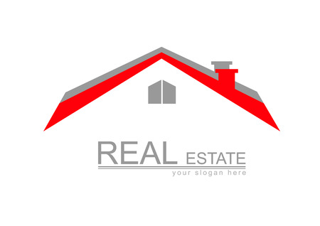 rent house: House Real Estate logo red