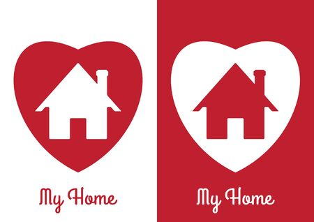 abstract building: House Real Estate  Icon  Design Template , House abstract , Building vector silhouette ,My Home