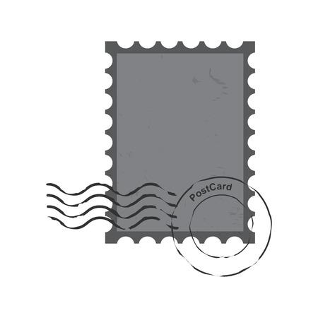poststempel: Briefmarken Stempel, Vintage Brief Vektor-Illustration