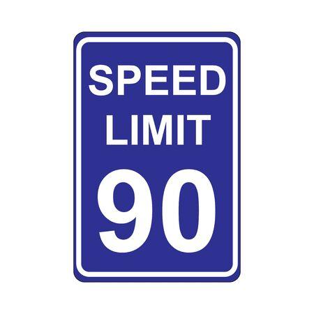 Speed Limit Sign  Blue Illustration