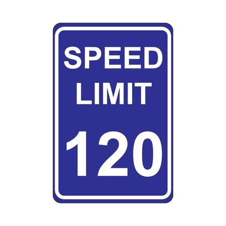 limit: Speed Limit Sign  Blue Illustration