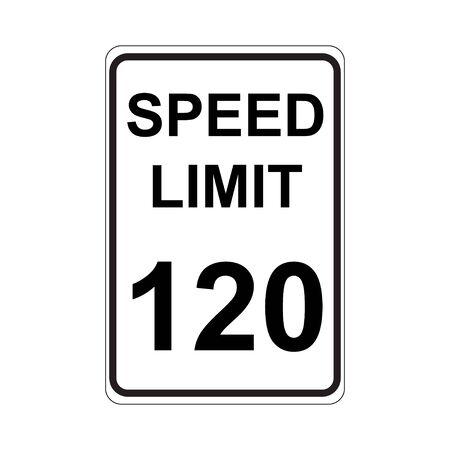 speed limit sign: Speed Limit Sign  White