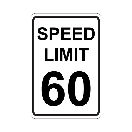 Speed Limit Sign  White
