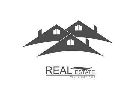real: House  Roof Real Estate design Illustration