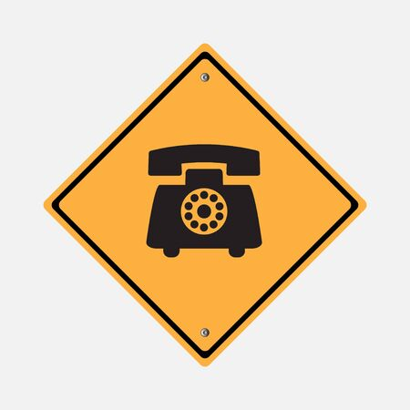 telephone: Telephone icon   yellow Illustration