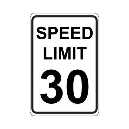 Speed Limit Sign  White
