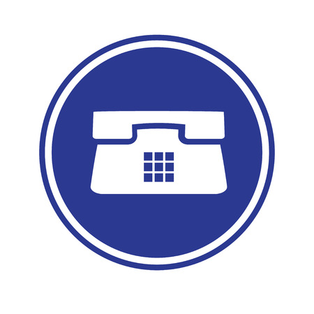 telephone: Telephone icon  blue