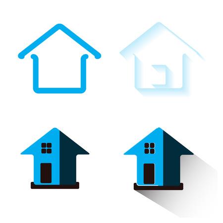 blue design: House Real Estate  blue design Illustration