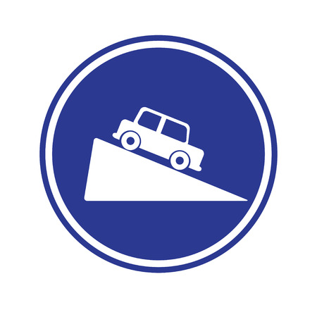 motorist: Traffic sign . Steep grade hill traffic sign