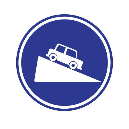 grade: Traffic sign . Steep grade hill traffic sign