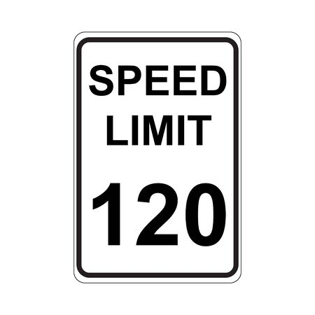 traffic violation: Speed Limit Sign  White