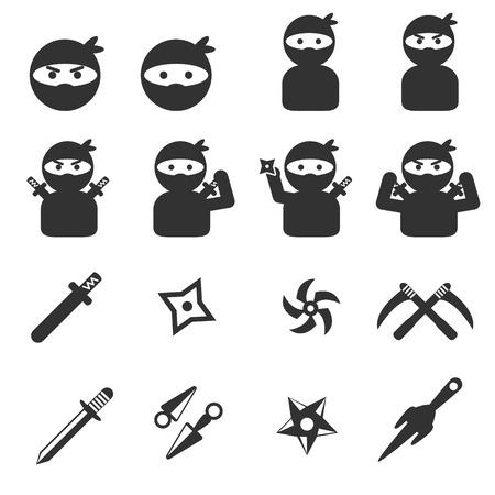 mortal: ninja icon set