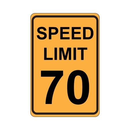 Speed Limit Sign  Yellow Çizim