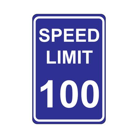 speed limit sign: Speed Limit Sign  Blue Illustration