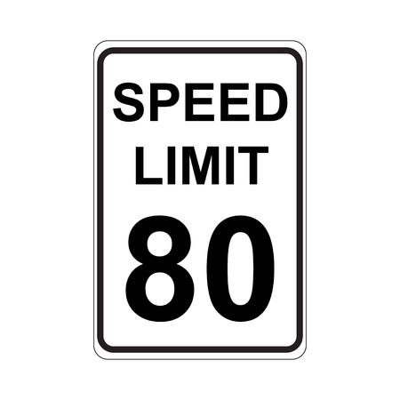 limit: Speed Limit Sign  White