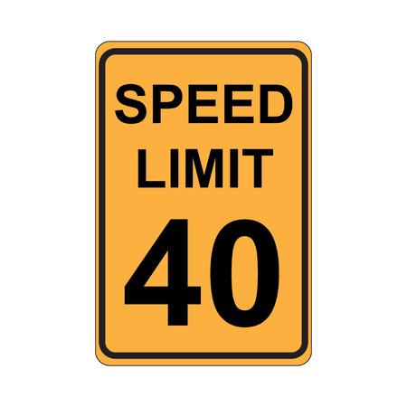 speed limit sign: Speed Limit Sign  Yellow Illustration