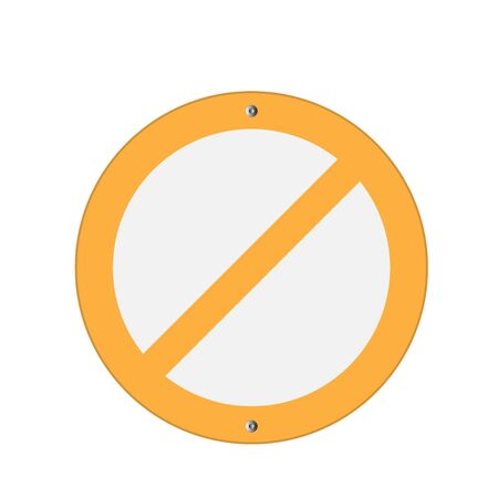 prohibition: Prohibition Sign Yellow . Vector illustrations