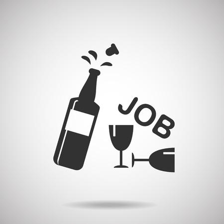 job icon: job icon . new job Illustration