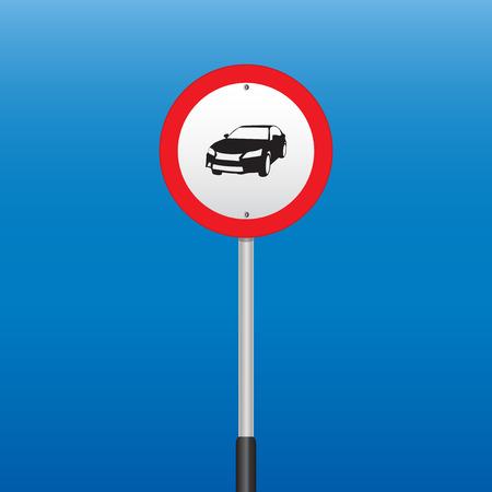prohibition: Interdiction Signe de voitures. Illustrations vectorielles