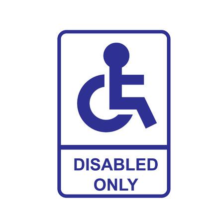 disabled sign: Disabled Sign Illustration