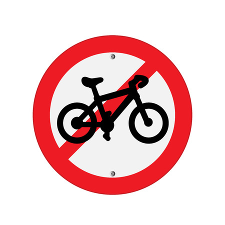 interdiction: Prohibition Sign bicycle . Vector illustrations