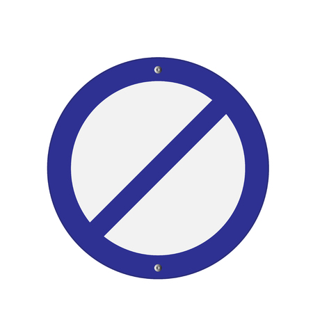 prohibition: Prohibition Sign blue . Vector illustrations