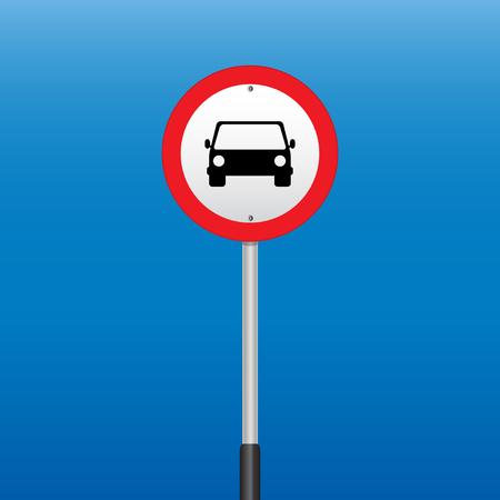interdiction: Interdiction Signe de voitures. Illustrations vectorielles
