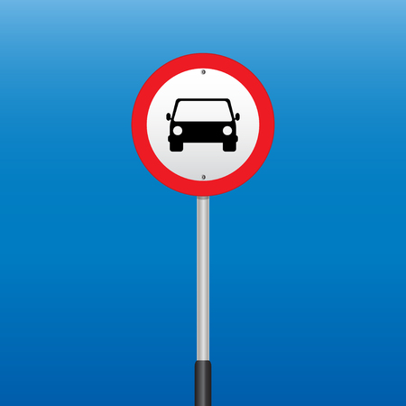 prohibition: Prohibition Sign Car . Vector illustrations Illustration