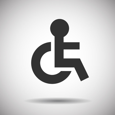 wheelchair access: Disabled Sign Illustration